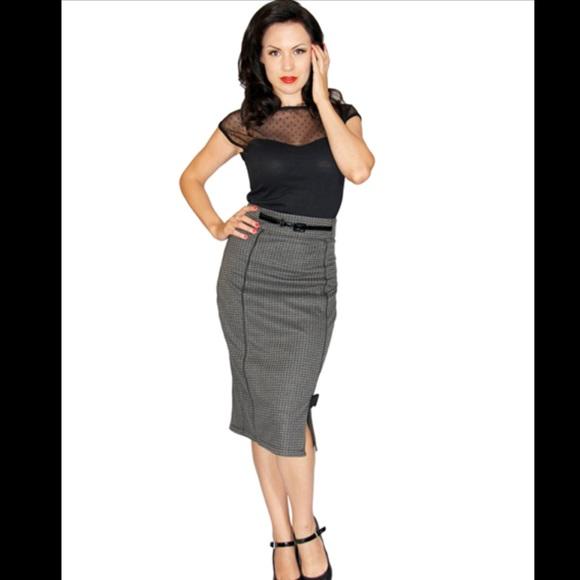 14f1c502de Rock Steady houndstooth pencil skirt. M_5b02431131a37662fd58a04b